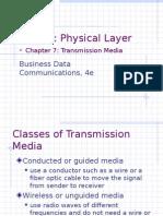 ws7 transmission media in communication system