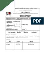Syllabus Probabilidad y Estadistica 2013