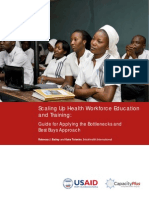 Scaling Up Health Workforce Education Training Bottlenecks Best Buys