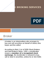 Overview of Stock Broking, Dep, Cust