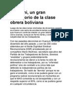HuanuniHuanuni, un gran laboratorio de la clase obrera boliviana