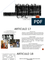 Articulo 17, 18 y 19