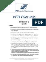 VFR Pilot Info Luftraum E Update