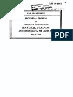 TM 9-1662 Binaural Training Instruments M1 and M2 1941