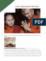 Wirathu Burma's Sponsored Terrorist