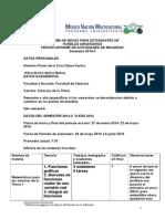3er. Informe Académico