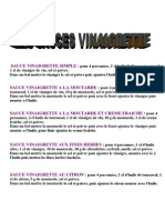 Les Sauces Vinaigrettes