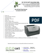 Lexmark e352 Dn Specificatii
