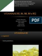 VITAMINAS B5, B6, B8, B9 e B12