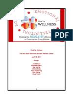 student wellness center communication plan