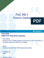 PoC R6.1 Feature Catalog