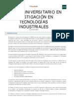 MU Investigacion Tecnologias Industriales