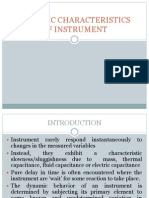 Chap 1c- Dynamic Characteristic of Instrument- Updated