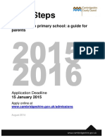 First Steps 2015 16 How to Apply for a Primary School Place (1)