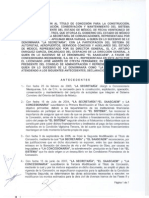 Quinta Modificacion Al Titulo de Concesion Del Circuito Exterior Mexiquense