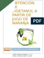 Obtención de Bioetanol a Partir de Jugo de Naranja
