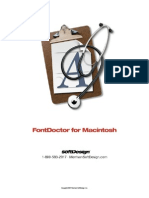 FontDoctor7 Manual
