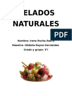 Helados naturales(EXPERIMENTO)