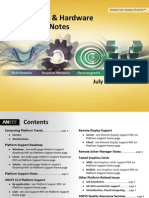 Ansys Platform and Hardware Support Notes