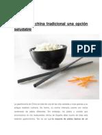 La Comida China Tradicional Una Opción Saludable