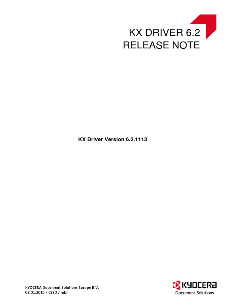 Kx Driver 6 2 1113 Release Note   Device Driver   Microsoft