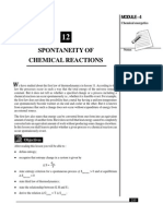 L-12 Spontaneity of Chemical Reactions