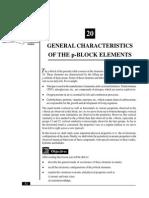 L-20 General Characterstics of the P-Block Elements