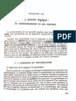 La Pensée Logique - Le Raisonnement Et Ses Normes (Court Traité de La Connaissance, 1972)