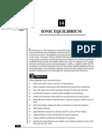 L-14 Ionic Equilibrium