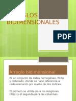 ARREGLOS BIDIMENSIONALES OTG