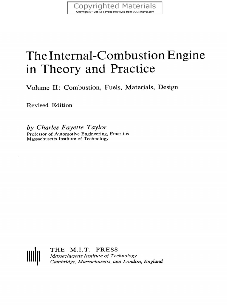 Ic engine taylorpdf internal combustion engine combustion fandeluxe Gallery