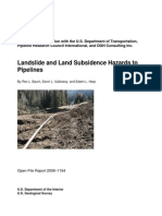 Landslide and Land Subsidence Hazards to Pipelines