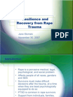 Resilience and Recovery From Rape Trauma