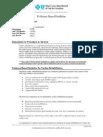 Cardiac Rehabilitation  - Evidence Based Guideline