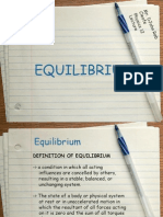 Equilibrium Powerpoint Physics 12 Lecture