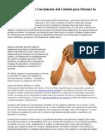 8 Remedios Para el Crecimiento del Cabello para Detener la P?rdida de Cabello