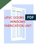 Upvc doors and windows making