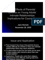 The Effects of Parental Divorce on Young Adults