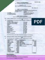 FAA OU Question Paper 2013 FEB 1