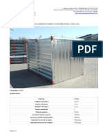 Container Cu Podea de Scurgere, Cu Usa Dubla in Fata, 2,25m x 2m 023820