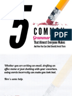 5 Common Grammar Mistakes
