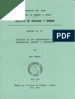 Geología - Cuadrangulo de Andahuaylas (28p), Abancay (28q) y Cotabambas (28r),1975