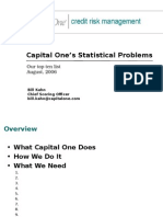 Capital One - Statistical Problems