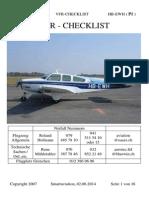 Vfr f33a Bonanza Checklist