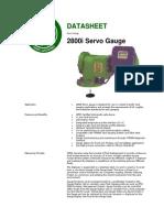 MTG 2800i Servo Tank Gauge Datasheet