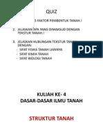 Kuliah Ke-4 - Ddit - Struktur Tanah