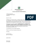 Letter for Adviser