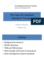 The New ISO Standard 'Standard' Template