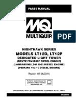 Manual Torre MULTIQUIP, Partes