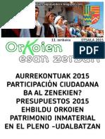 ALDIZKARIA 11. OTSAILAK 2015